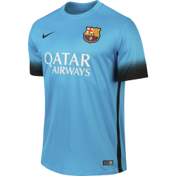 Barcelona 3rd Mens Short Sleeve Jersey 2015/2016