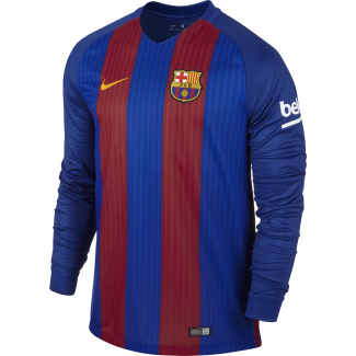 Barcelona Home Mens Long Sleeve Jersey 2016/2017