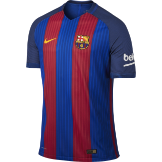 Barcelona Home Mens Match Short Sleeve Jersey 2016/2017