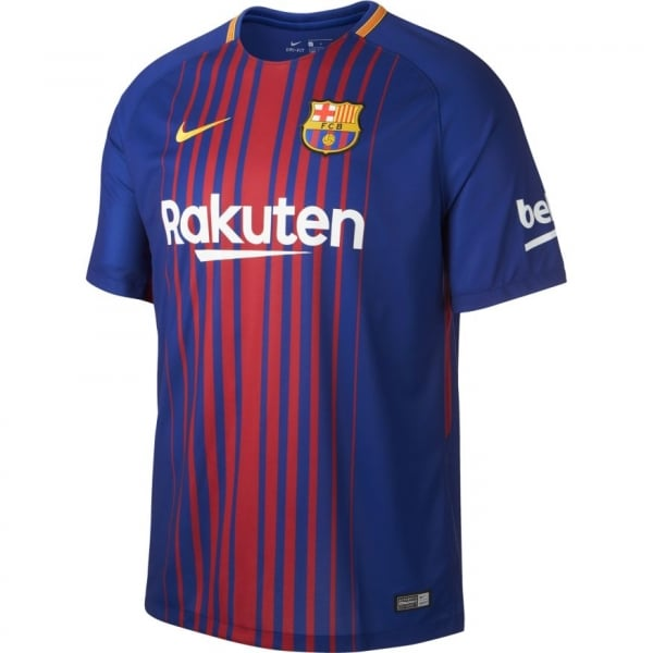 Nike Barcelona Home Mens Short Sleeve Jersey 2017/2018