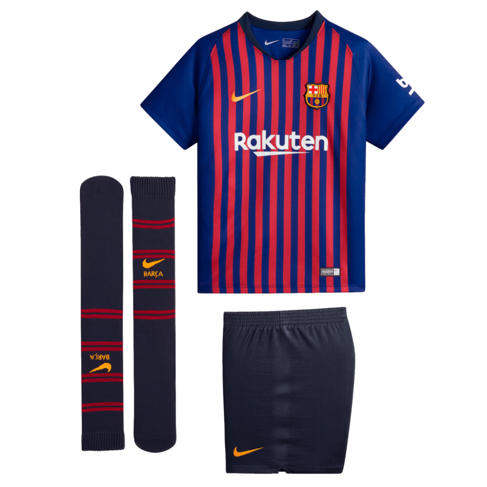 94a9f20210cf3 Nike Barcelona Home Mini-Kit 2018 2019 - Nike from Excell Sports UK