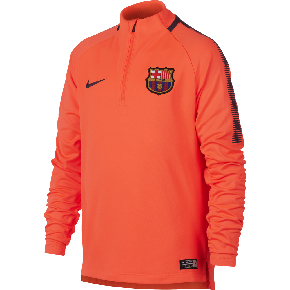 402c9381551 Nike Barcelona Junior Squad Drill Top in Crimson | Excell Sports UK
