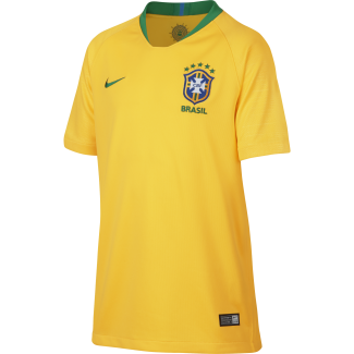 Brazil Home Junior Short Sleeve Jersey 2018