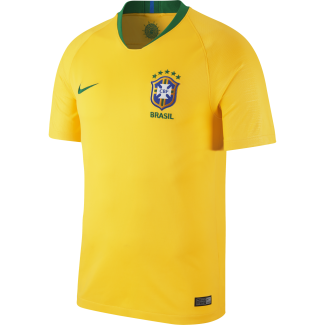 Brazil Home Mens Short Sleeve Jersey 2018