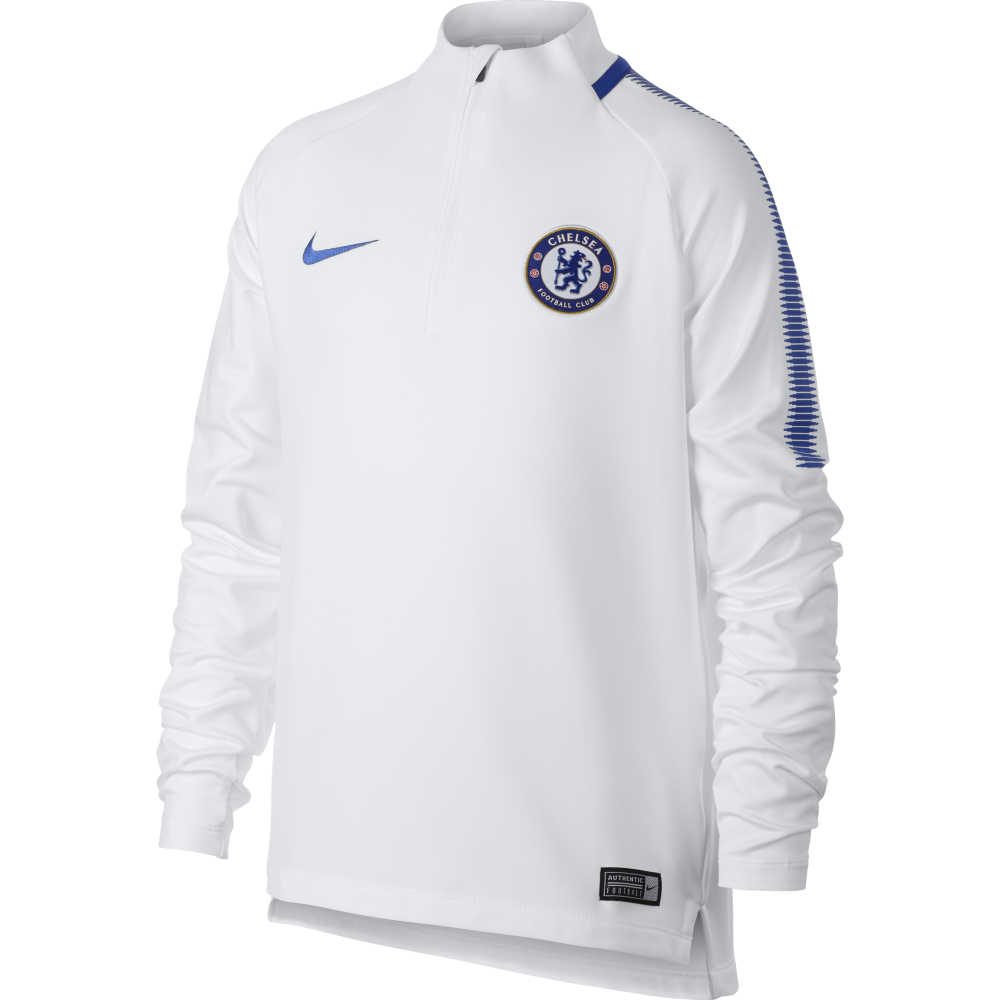 031b7eec2fe Nike Chelsea Junior Squad Drill Top in White | Excell Sports UK
