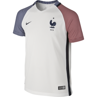 France Away Junior Short Sleeve Jersey 2016/2017