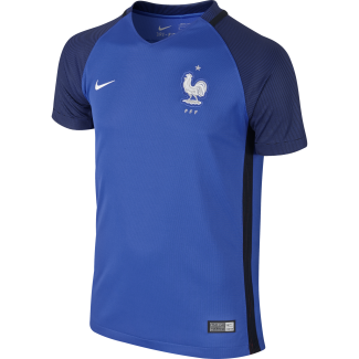France Home Junior Short Sleeve Jersey 2016/2017
