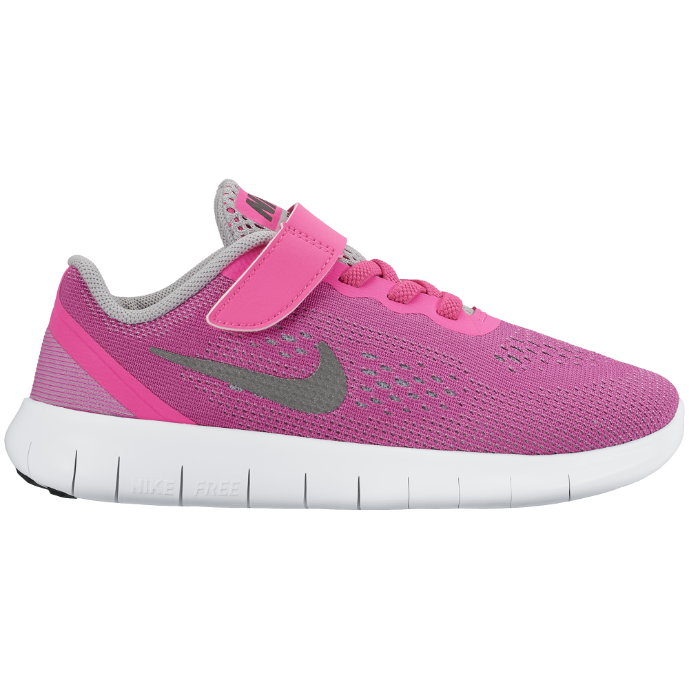 nike free girls 5 0 run velcro sizes 10 2 5 in pink. Black Bedroom Furniture Sets. Home Design Ideas