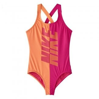 Girls Crossback One Piece Swimsuit