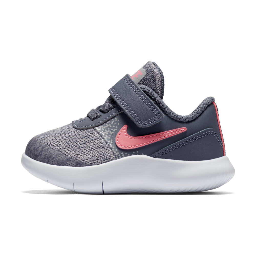 ede4f29aa9b1 Nike Girls  Flex Contact Toddler Shoe in Carbon