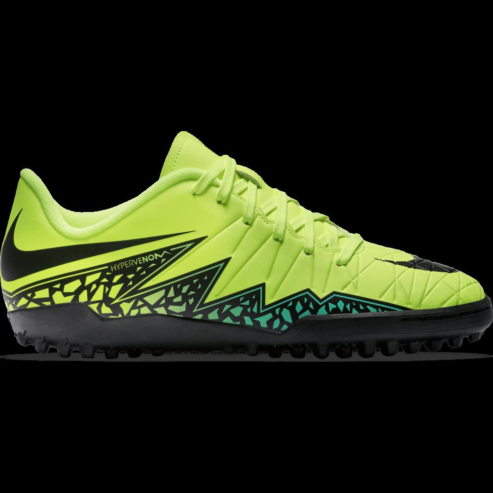 Nike Junior Hypervenom Phelon II TF in Volt | Excell Sports UK