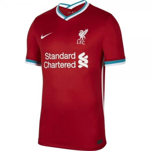 Nike Liverpool Home Junior Short Sleeve Jersey 2020/2021 - Sport from Excell Sports UK