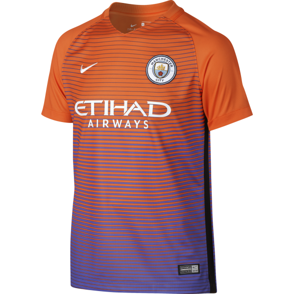 Nike Manchester City 3rd Junior Short Sleeve Jersey 2016/2017