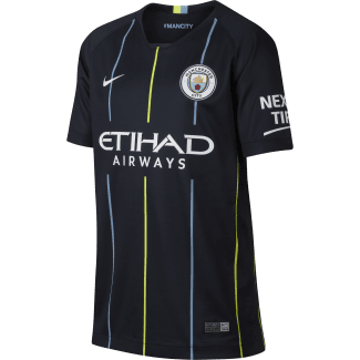 Manchester City Away Junior Short Sleeve Jersey 2018/2019
