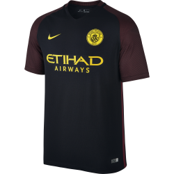 Manchester City Away Mens Match Short Sleeve Jersey 2016/2017