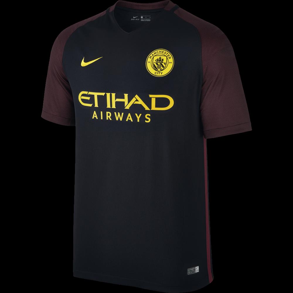 Nike Manchester City Away Mens Match Short Sleeve Jersey ...
