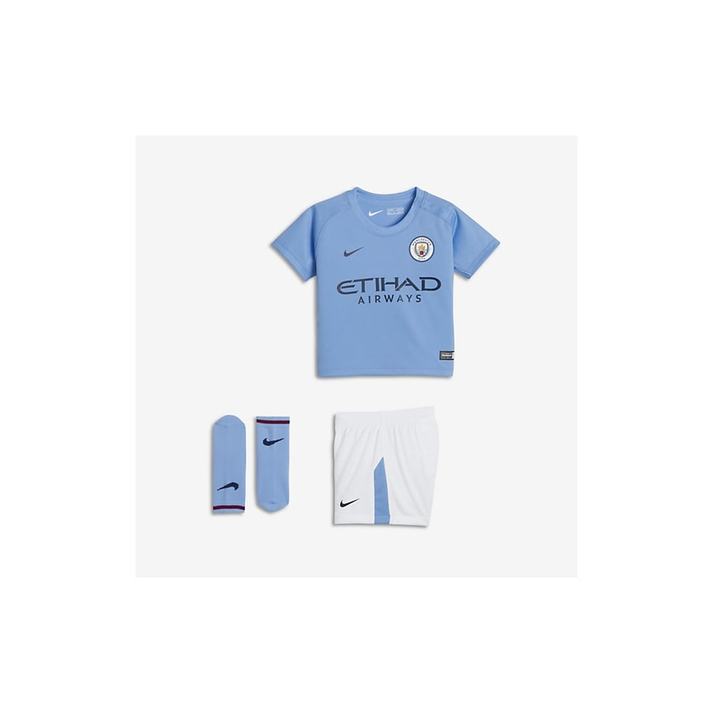 9e8fdd59 Nike Manchester City Home Infant Kit 2017/2018 in Blue | Excell Sports UK