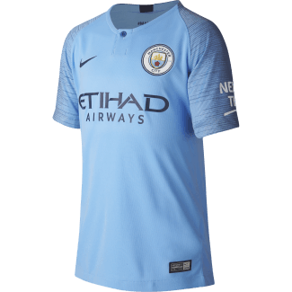 Manchester City Home Junior Short Sleeve Jersey 2018/2019