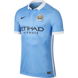 Manchester City Home Mens Match Short Sleeve Jersey 2015/2016