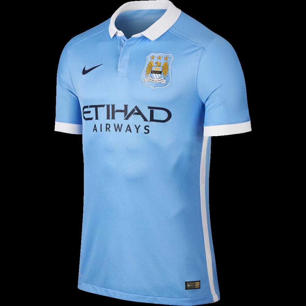 Nike Manchester City Home Mens Match Short Sleeve Jersey ...