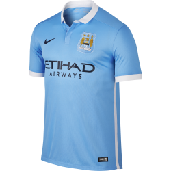 Manchester City Home Mens Short Sleeve Jersey 2015/2016