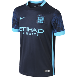 Manchester City Junior Away Short Sleeve Jersey 2015/2016