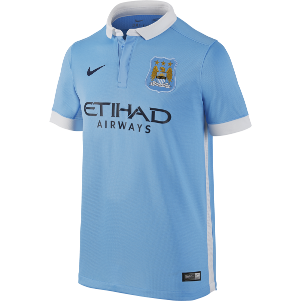 Nike Manchester City Junior Home Short Sleeve Jersey 2015/2016
