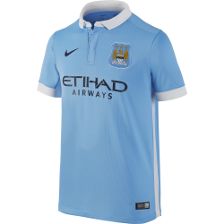 Manchester City Junior Home Short Sleeve Jersey 2015/2016