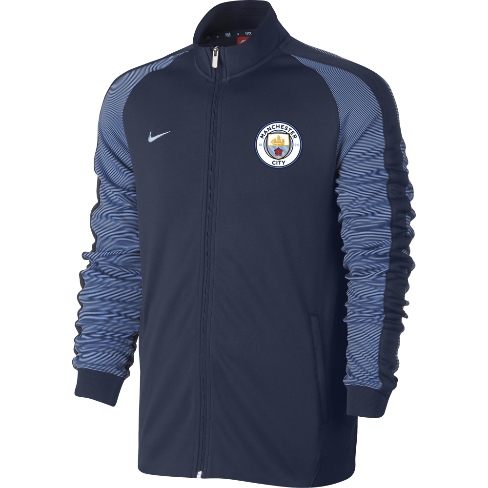 b4916d31 Nike Manchester City Mens N98 Authentic Track Jacket in Navy ...