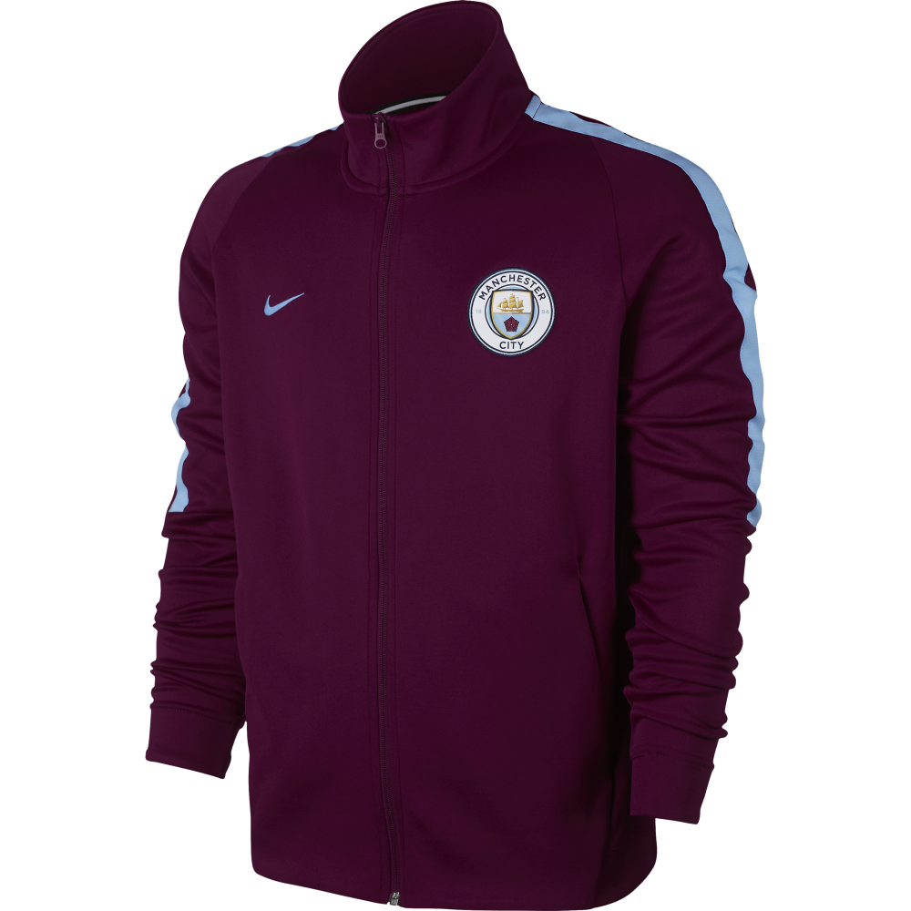 Nike Manchester City Mens N98 Track Jacket in True Berry  27b23cd14