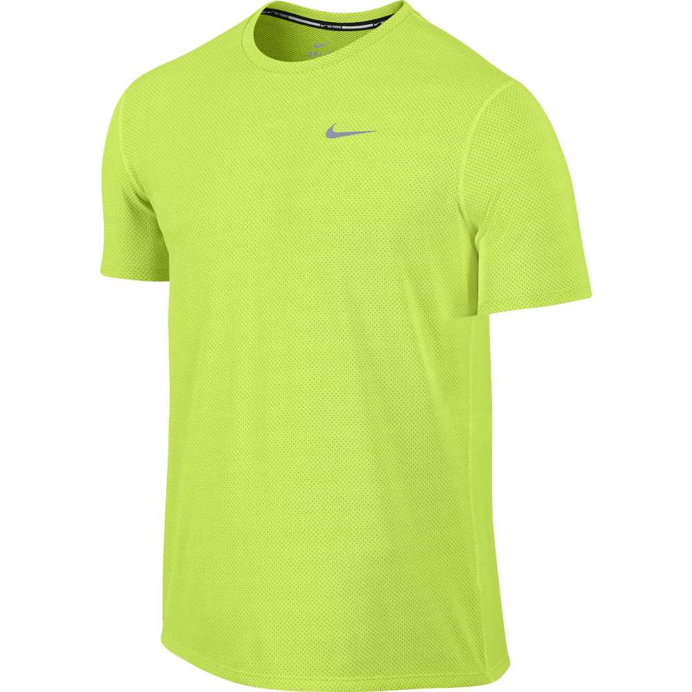 nike mens dri fit contour t shirt in yellow excell sports uk. Black Bedroom Furniture Sets. Home Design Ideas