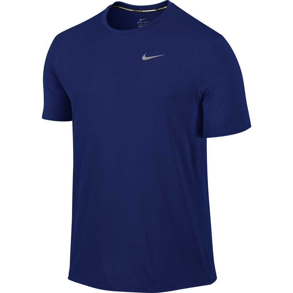 Nike Mens Dri Fit Contour T Shirt In Royal Excell Sports Uk