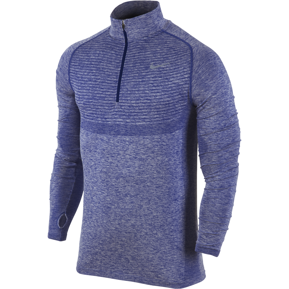 nike mens dri fit knit half zip top nike from excell. Black Bedroom Furniture Sets. Home Design Ideas