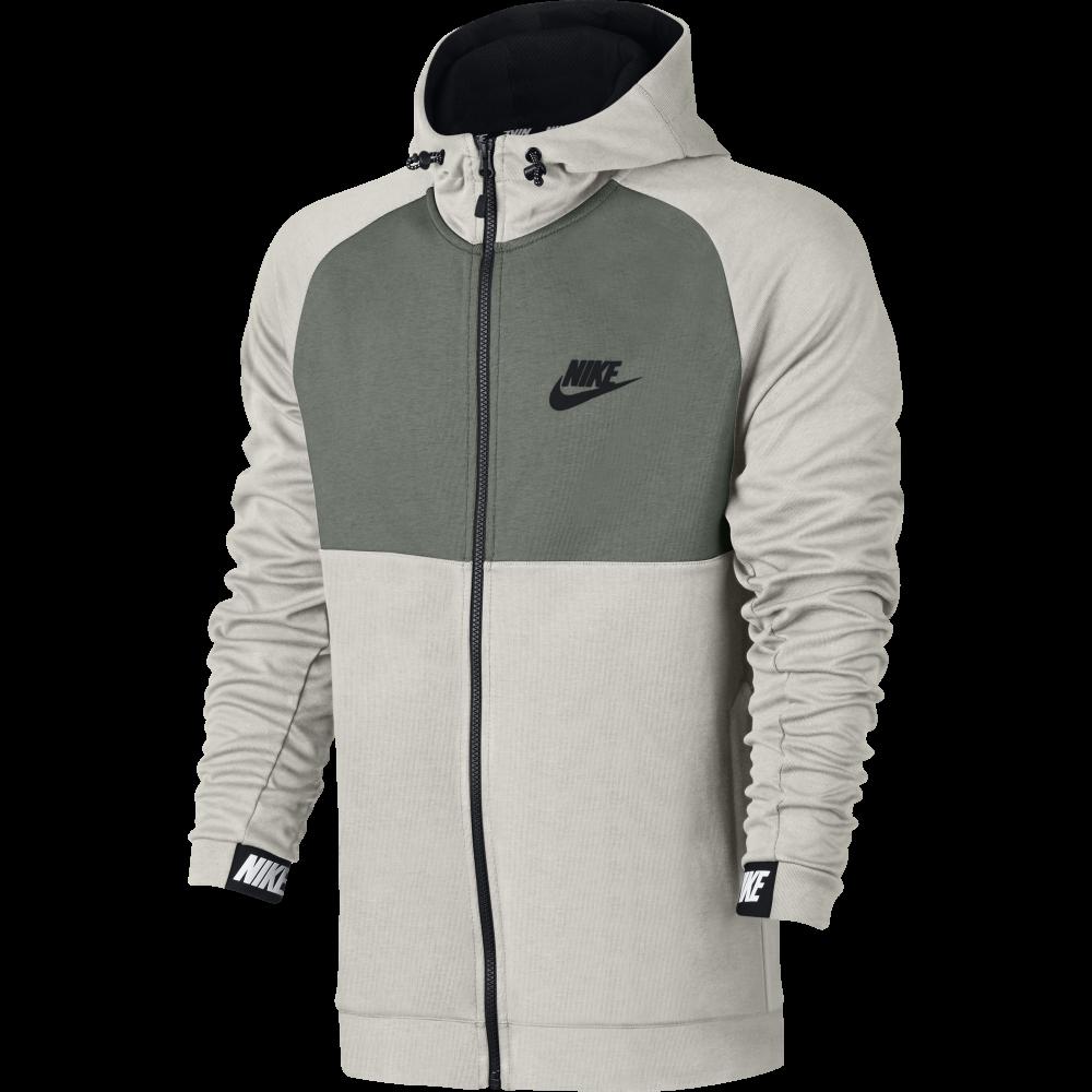 6b280147 Nike Men's Sportswear Advance 15 Full Zip Hoodie in BONE | Excell Sports UK
