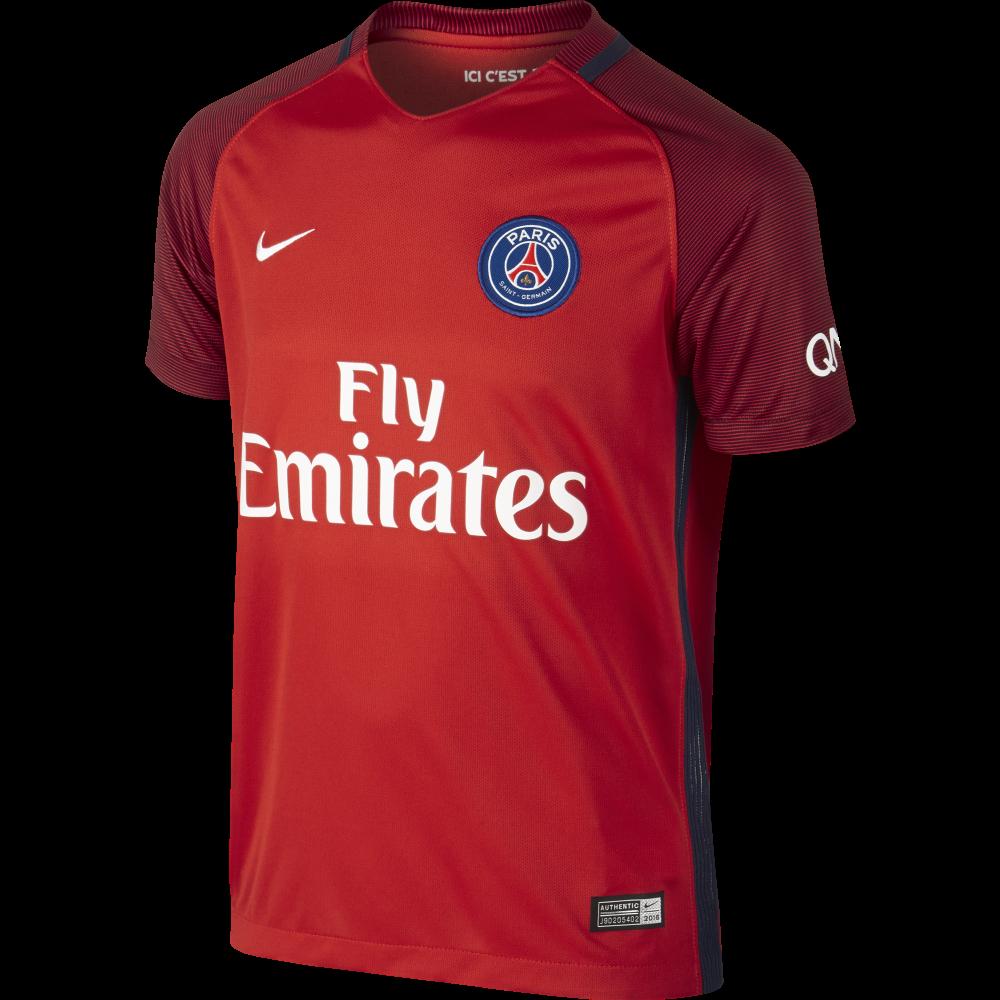 Nike Paris Saint-Germain Away Junior Short Sleeve Jersey ...