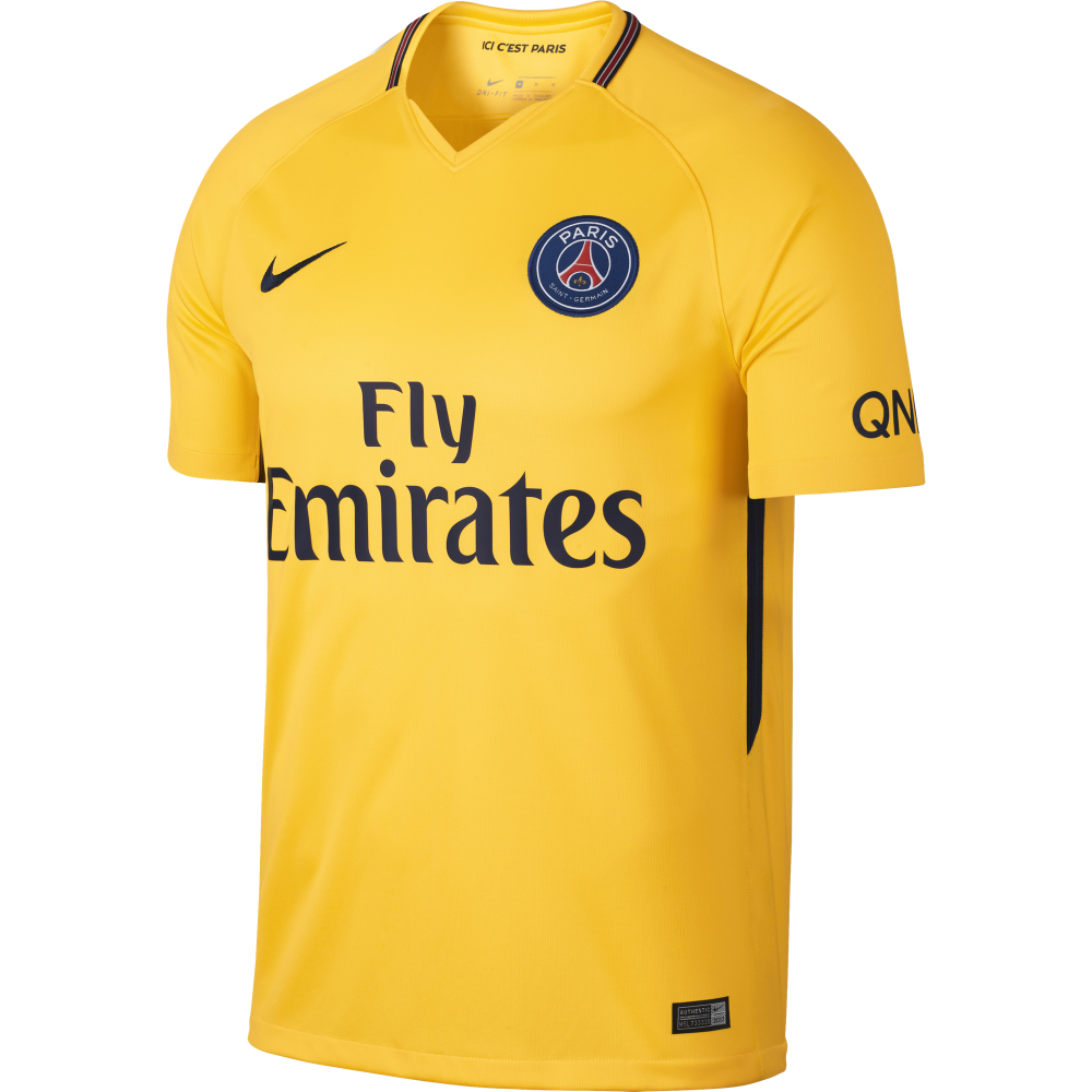 Nike Paris Saint-Germain Away Mens Short Sleeve Jersey ...