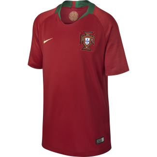 Portugal Home Junior Short Sleeve Jersey 2018