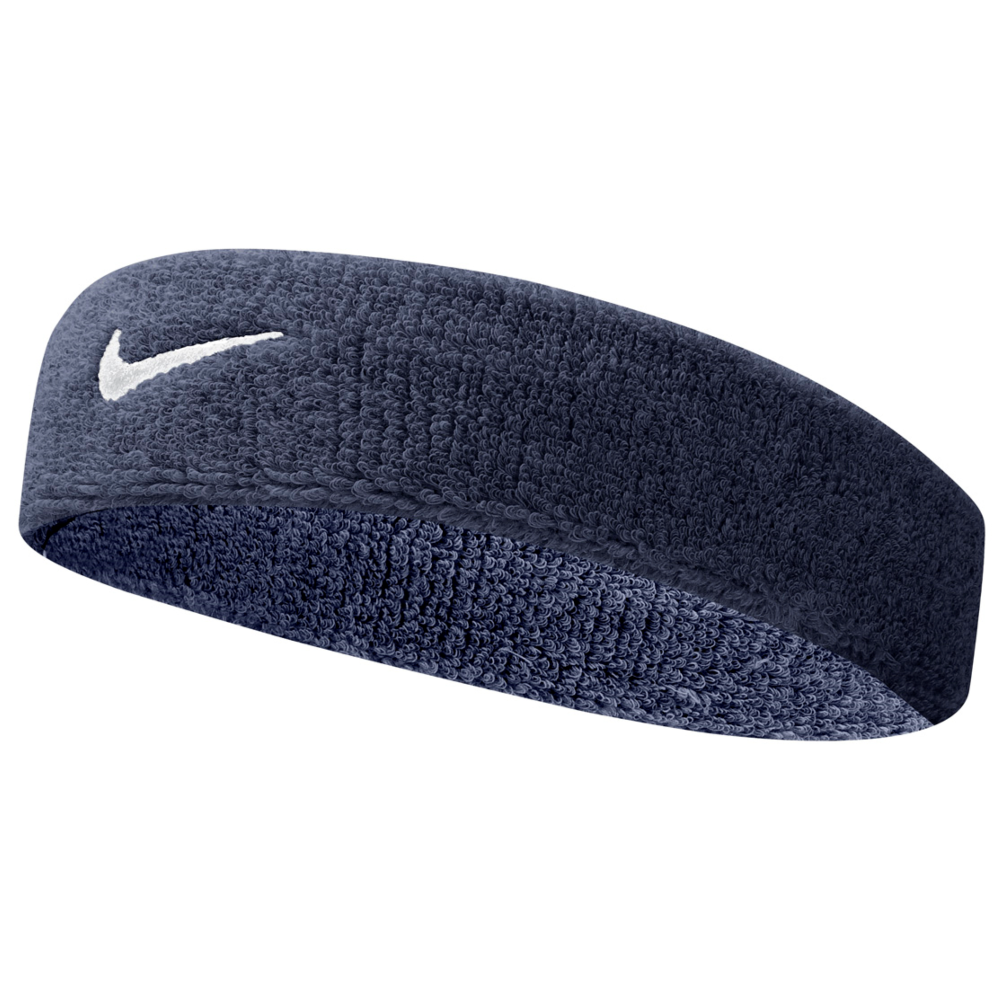 Nike Swoosh Headband In Grey Black Excell Sports Uk