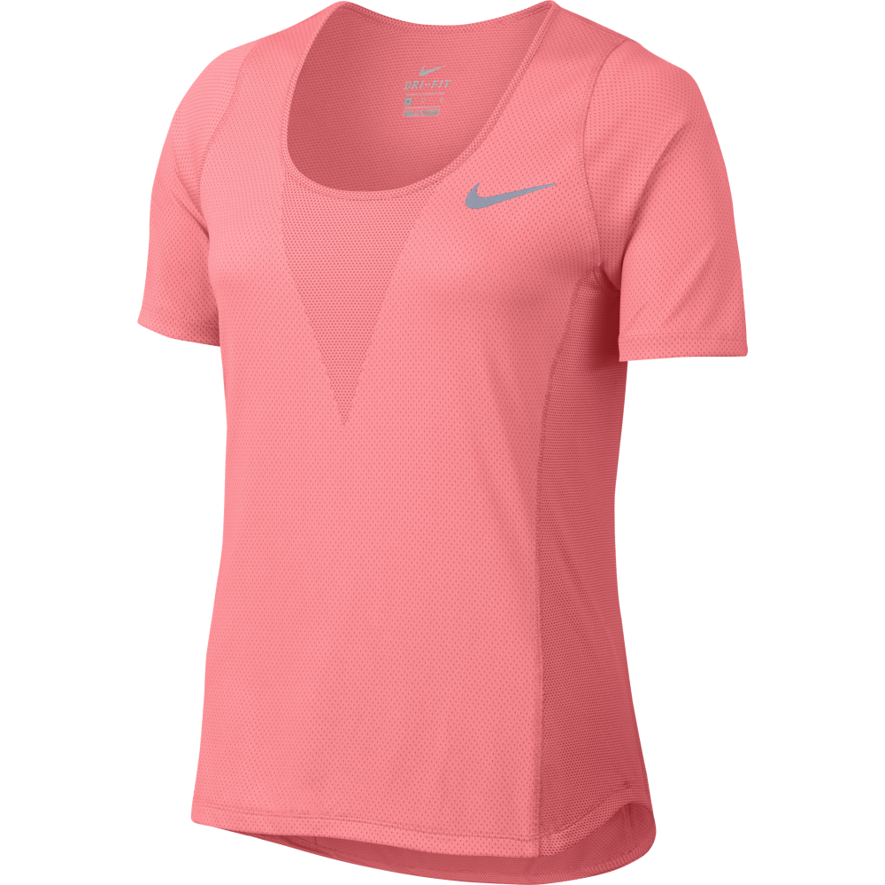 Nike Womens Zonal Cooling Relay Run Top In Coral Excell