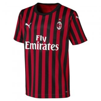AC Milan Junior Short Sleeve Jersey 2019/2020
