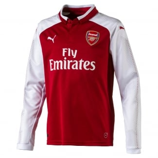 Arsenal Home Junior Long Sleeve Jersey 2017/2018