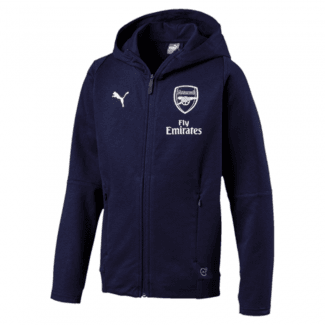 Arsenal Junior Casual Performance Hooded Jacket 2018/2019