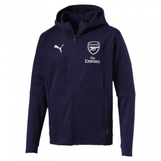 Arsenal Mens Casual Performance Hooded Jacket 2018/2019