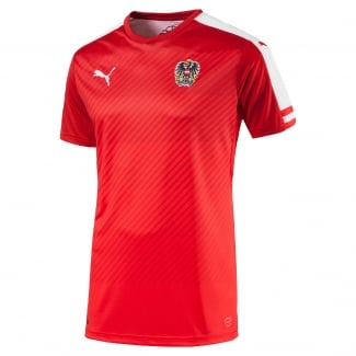 Austria Home Mens Short Sleeve Jersey