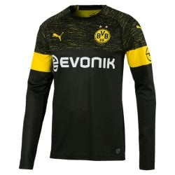 Borussia Dortmund Away Mens Long Sleeve Jersey 2018/2019