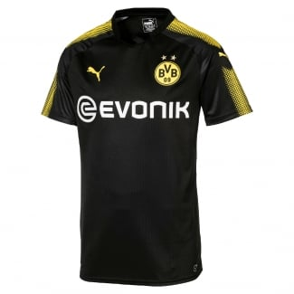 Borussia Dortmund Away Mens Short Sleeve Jersey 2017/2018