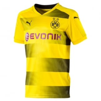 Borussia Dortmund Home Junior Short Sleeve Jersey 2017/2018