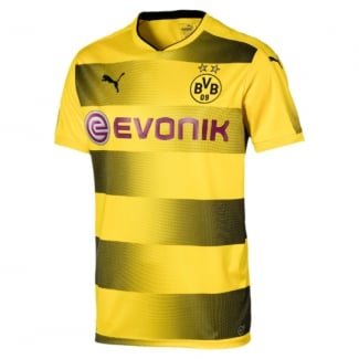 Borussia Dortmund Home Mens Short Sleeve Jersey 2017/2018