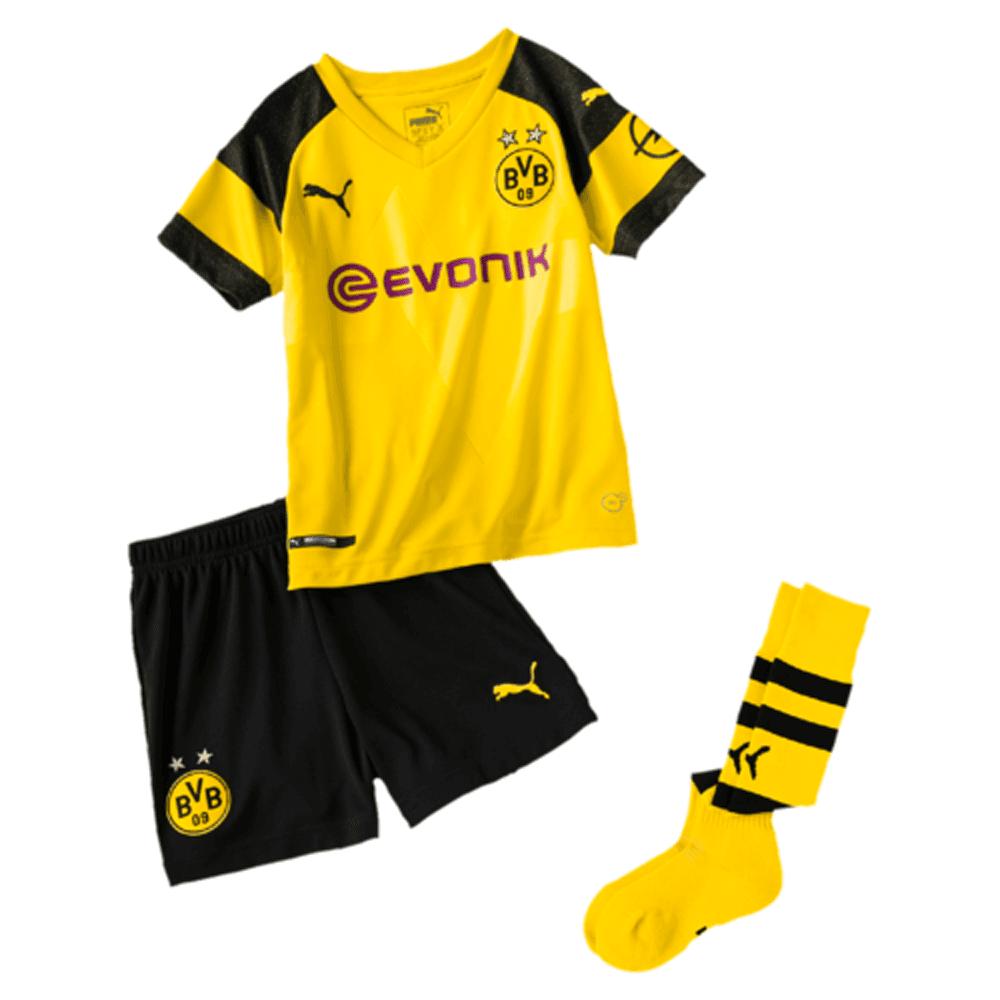 new product 99674 35dca Puma Borussia Dortmund Home Mini kit 2018/2019