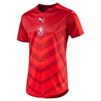 Czech Republic Home Mens Short Sleeve Jersey